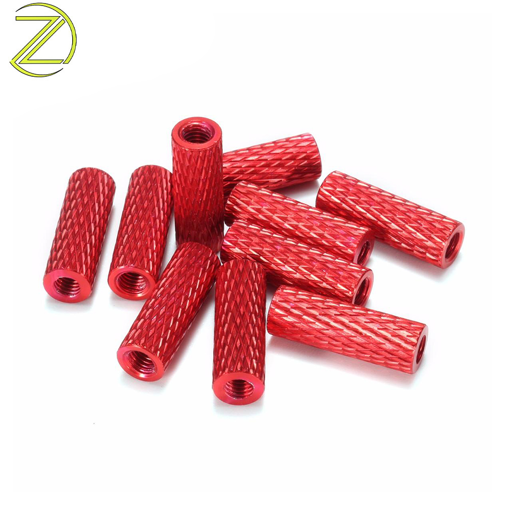 red knurled standoffs